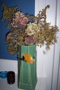 Dried goldenrod and hydrangea