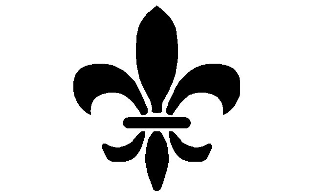 Dumas's use of the fleur-de-lis was the first time the symbol was impressed