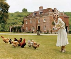 Lawn at English country manor (with Madonna).
