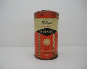 Vintage nutmeg tin