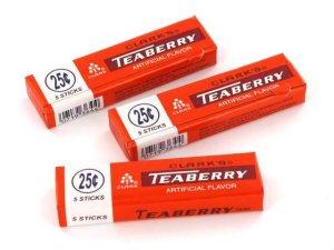 Clark's teaberry gum is wintergreen flavored